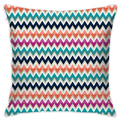Amazon.com: BenGalsworthy Colorful Wave Stripe Hold Pillow ...