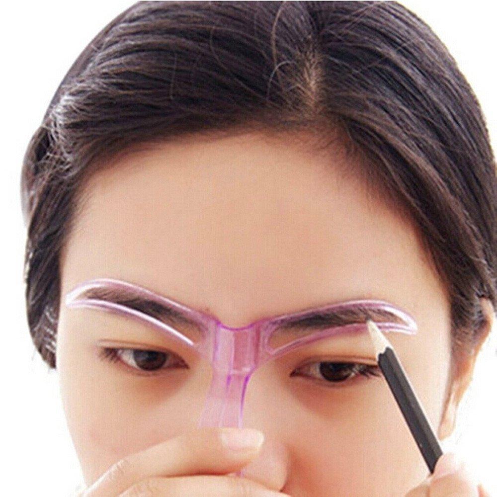 Professional Beauty Tool Makeup Grooming Drawing Blacken Eyebrow Template