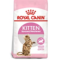 Royal Canin Feline Health Nutrition Spayed/Neutered Dry Cat Food for Kittens, 2.5...