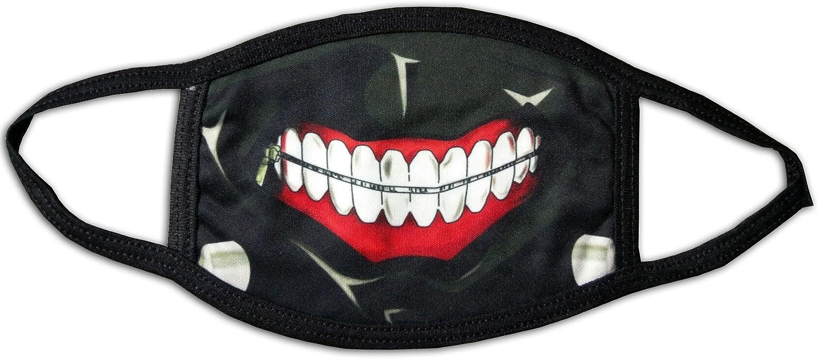 Ac Amazon Com Evil Joker Smile Outdoor Printed Unifashion Cotton Black Scarlxrd Mask Clothing