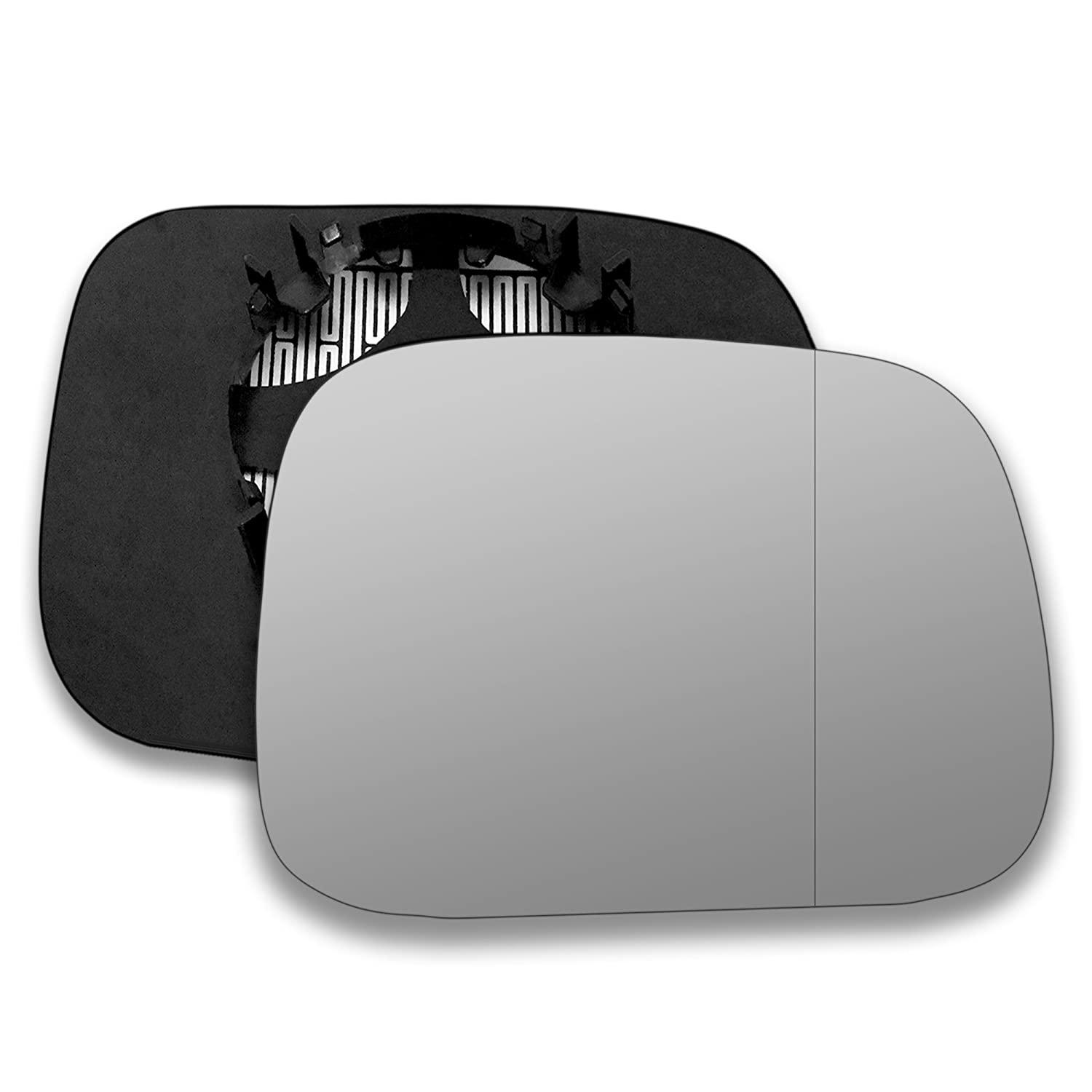 Driver right hand side Heated wing door Silver mirror glass with backing plate #W-SHY/R-VOXC9007 [Clip On] Sylgab