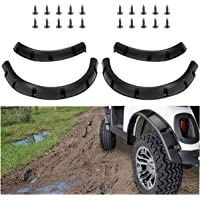 10L0L Golf Cart 4 Fender Flares (2) Front & (2) Rear fit Yamaha G22 G29,Club Car DS Precedent, EZGO RXV&TXT with Metal Hardware
