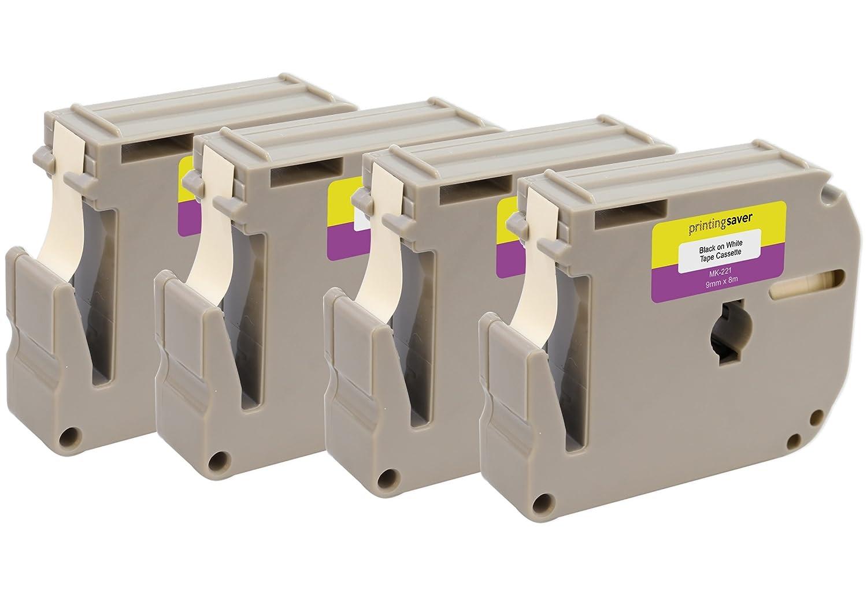 Printing Saver 5x M K231 MK231 M-231 Nero su Bianco 12 mm x 8 m Cassetta Nastro per Etichette compatibile per Brother P-Touch PT45 PT55 PT65 PT70 PT75 PT80 PT85 PT90 PTM95 PT100 PT110 Etichettatrici