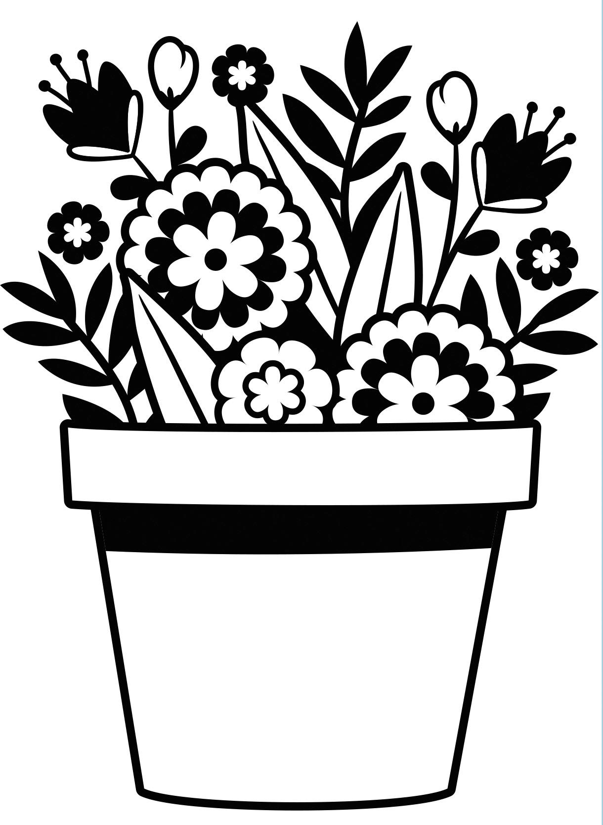 Flowers in Pot Embossing Folder (6 Pack)