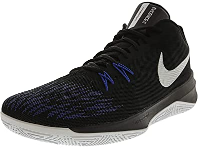 best cheap b8813 5aa7a Nike Mens Zoom Evidence II Basketball Shoe (BlackMetallic Silver, 8 D(