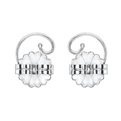 Amazon Com Levears 14k White Gold Pierced Ear Lobe Earring Backs