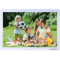 Andoer 15 Inches LED Digital Picture Frame 1280x800 with Remote Control Multiple Functions Including LED Clock Calendar MP3 MP4 Movie Player Support Multiple Languages (15 inches, white)