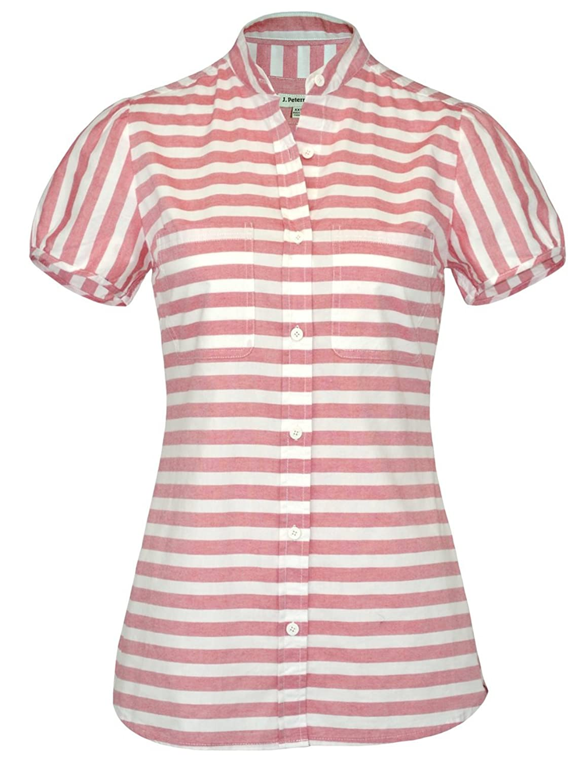 1930s Style Tops, Blouses & Sweaters Nautical Blouse $62.07 AT vintagedancer.com