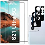 Galaxy S21 Ultra Screen Protector, 9H Tempered Glass, Ultrasonic Fingerprint Compatible,3D Curved, HD Clear for Samsung S21 U