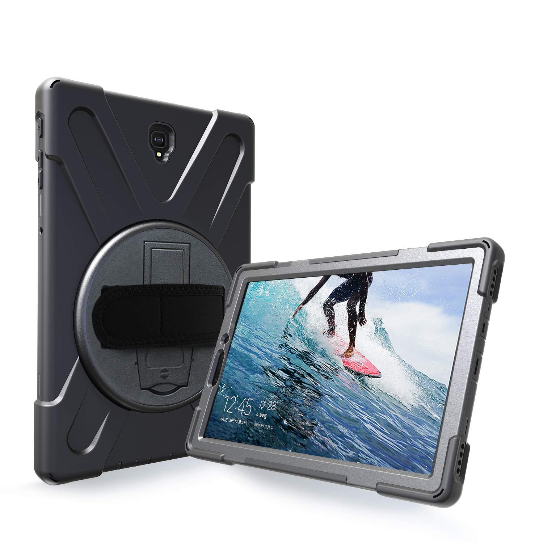 日本最級 Azzsy Samsung Galaxy S4 Tab S4ケース [360度回転スタンド/ハンドストラップ] ブラック 高耐久 耐衝撃 頑丈なケース 耐衝撃性 フルボディ保護ケース Samsung Galaxy Tab S4 10.5 2018用 (SM-T830/T835/T837) Samsung Galaxy Tab S4 10.5 Inch ブラック B07KYLX59M, アンダーウェア:2018e670 --- a0267596.xsph.ru