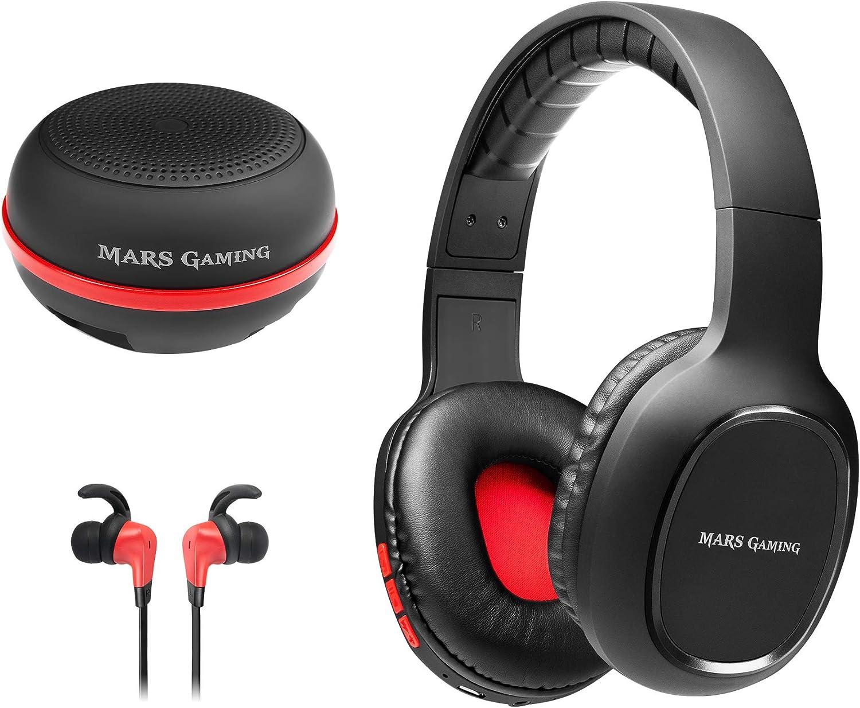 Mars Gaming MHBTX, combo gaming, cascos+auticulares in-ear+altavoz, bluetooth