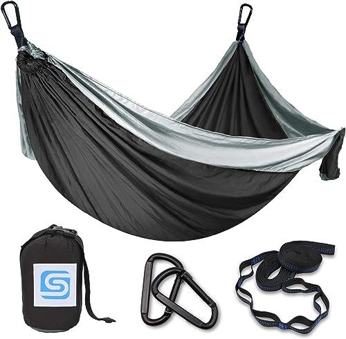 9 FT Hammock -Hammock in A Bag -Beach Hammock -SendCord Hideaway Nylon Hammocks for Outdoors -Parachute Hammock with Upraded Straps -Two Person Hammock for Camping, Backyard, Patio, Balcony