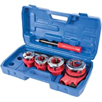Silverline 868556 Pipe Threading Kit 5-Piece 1/2-inch, 3/4-inch, 1-inch and 1-1/4 inches