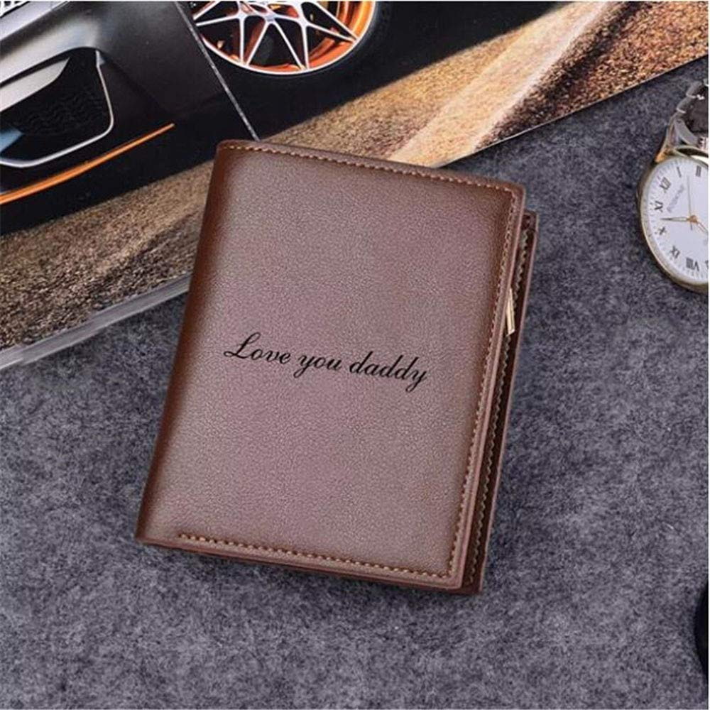 Personalized Men Wallets Custom photo Wallets Mans Chic Leather Bifold Wallet ID Credit Card Photo Holder
