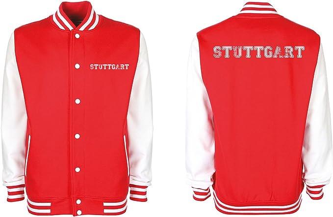 College Jacke Stuttgart Baseball Jacke Damen Herren XS 3XL