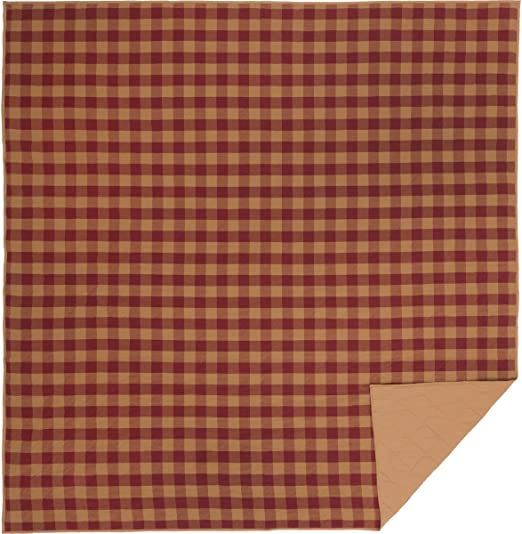 CAMPBELL WINE KING QUILT By PARK DESIGNS//COUNTRY PRIMITIVE LODGE RUSTIC QUILT