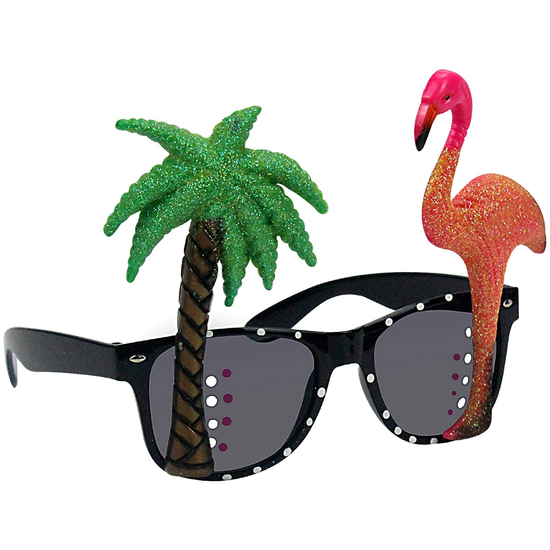 musykrafties photo booth puntelli, Hawaiian Hibiscus and Hummingbird Sunglasses, 1-piece