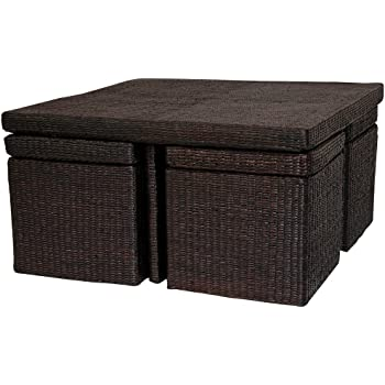 Amazon Com Oriental Furniture Rush Grass Coffee Table