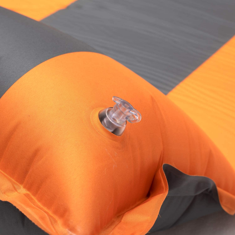 acampada Colchoneta doble autoinflable para dormir cama de aire senderismo esterilla gruesa 4