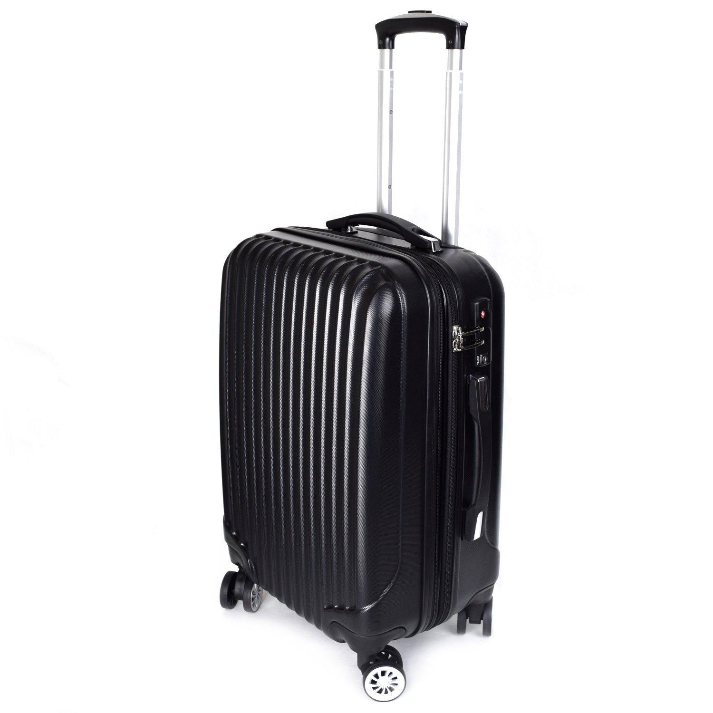 【神戸リベラル】 LIBERAL 軽量 拡張ファスナー付き S,M,Lサイズ スーツケース キャリーバッグ 8輪キャスター TSAロック付き B01FTNHXJI Lサイズ(長期用 85/95L)|ブラック ブラック Lサイズ(長期用 85/95L)