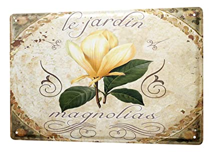 Amazoncom Tin Sign Flower Shop Decoration Magnolia 8x12 Home