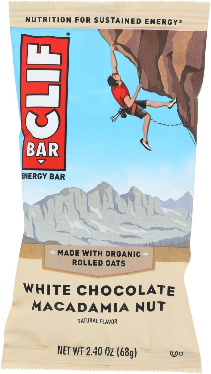Energy Bar White Chocolate Macadamia Nut Sale 1 Box Pac Price reduction 12 Qty: 2.4Oz