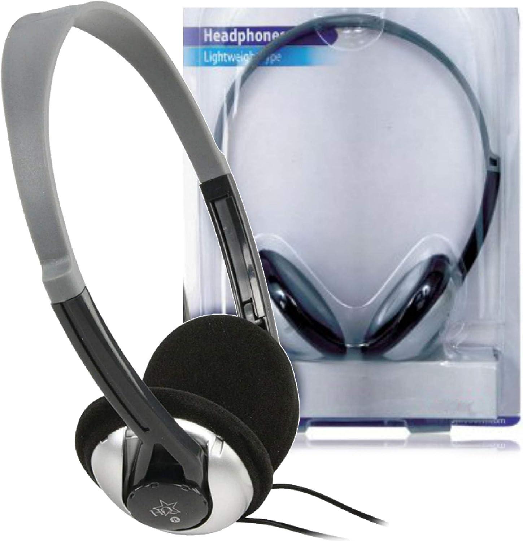 HQ Diseño Auriculares televisor 6 metros cable. 6 M STEREO Diadema Headphones Negro para MP3 Player TV Televisor Teléfono Móvil DJ Smartphone iPhone 4 5 6 S C Plus Tablet Samsung Galaxy