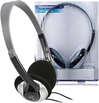 HQ Diseño Auriculares televisor 6 metros cable. 6 M STEREO Diadema Headphones Negro para MP3 Player