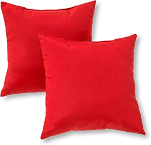 Greendale Home Fashions 17 in. Outdoor Accent Pillow (set of 2), Salsa