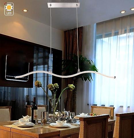 Mstar Lampara Colgante Led Moderno Techo Altura Ajustable De Metal - Lamparas-para-comedores