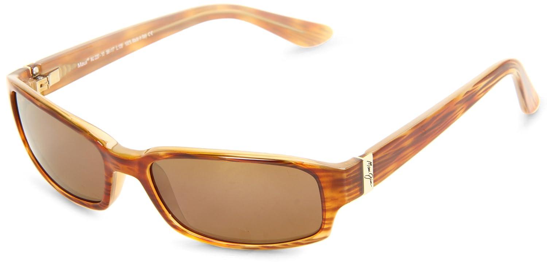 4199f0317800f Maui Jim H220-10 Tortoise Atoll Rectangle Sunglasses Polarised Driving   Maui Jim  Amazon.co.uk  Clothing
