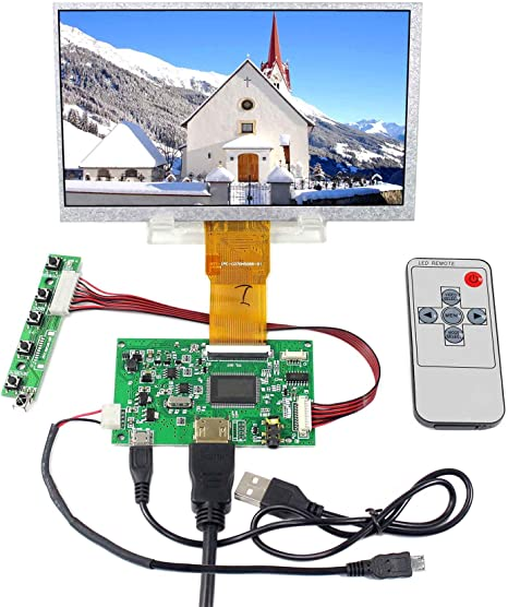 """4.3/"""" inch Capacitive Touch Screen+USB Controller Board+USB Cable for Rasperry PI"""