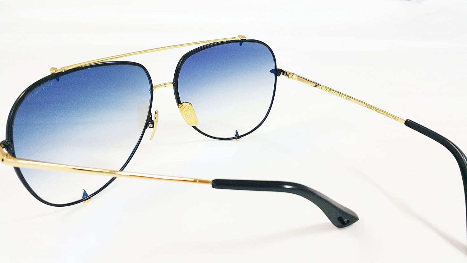 ac319eb7ab5 Dita Talon Aviator Sunglasses 23007 in Gold and Black frame with Grey Lens   Amazon.co.uk  Clothing