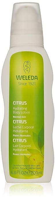 WELEDA Citrus Feuchtigkeitslotion, 200 ml, Pflegelotion zur Pflege von trockener Haut, Hautpflege, erfrischend