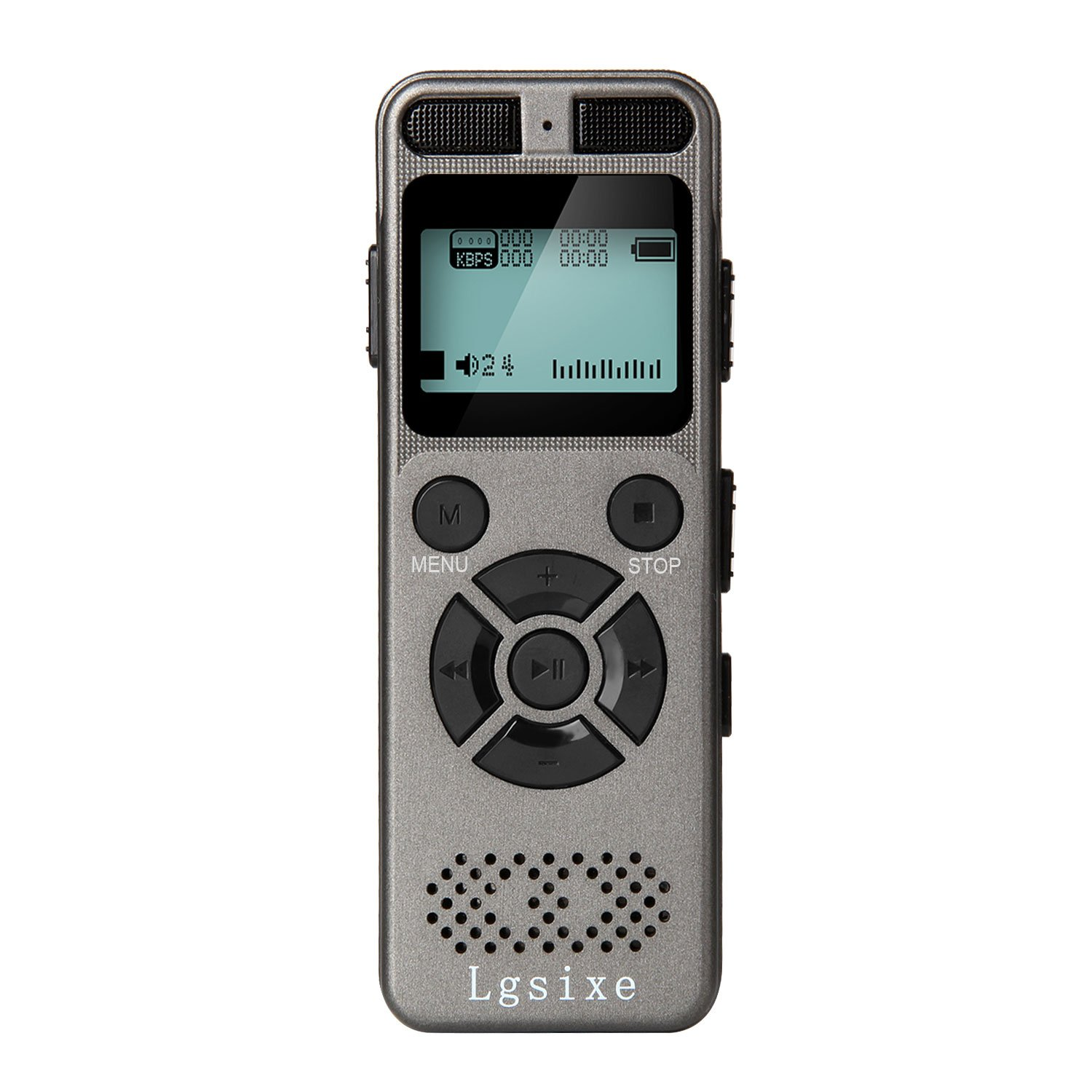 Lgsixe Digital Voice Recorder 8GB 1536Kbps Voice Recording device Record Double Microphone/Noise Cancelling/Voice Activated MP3 Digital Audio Player for Class, Lectures, Interviews
