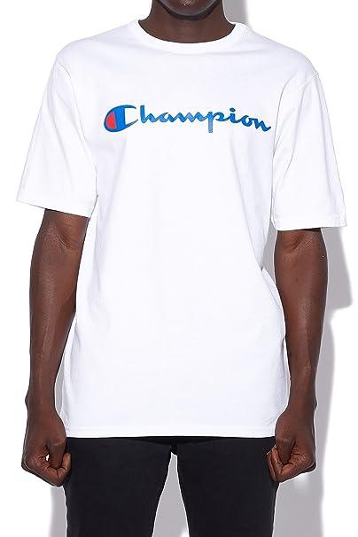 bad8fe6a7bc359 CHAMPION Heritage Big Script Tee White  Amazon.com.au  Fashion