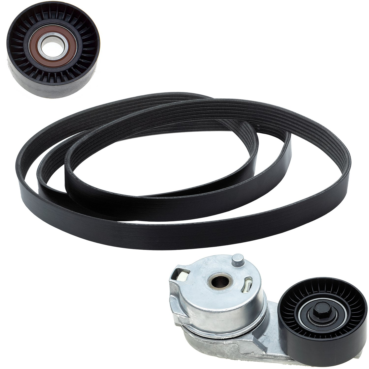 Pulley ACDelco ACK060825 Professional Automatic Belt Tensioner and Pulley Kit with Tensioner and Belt