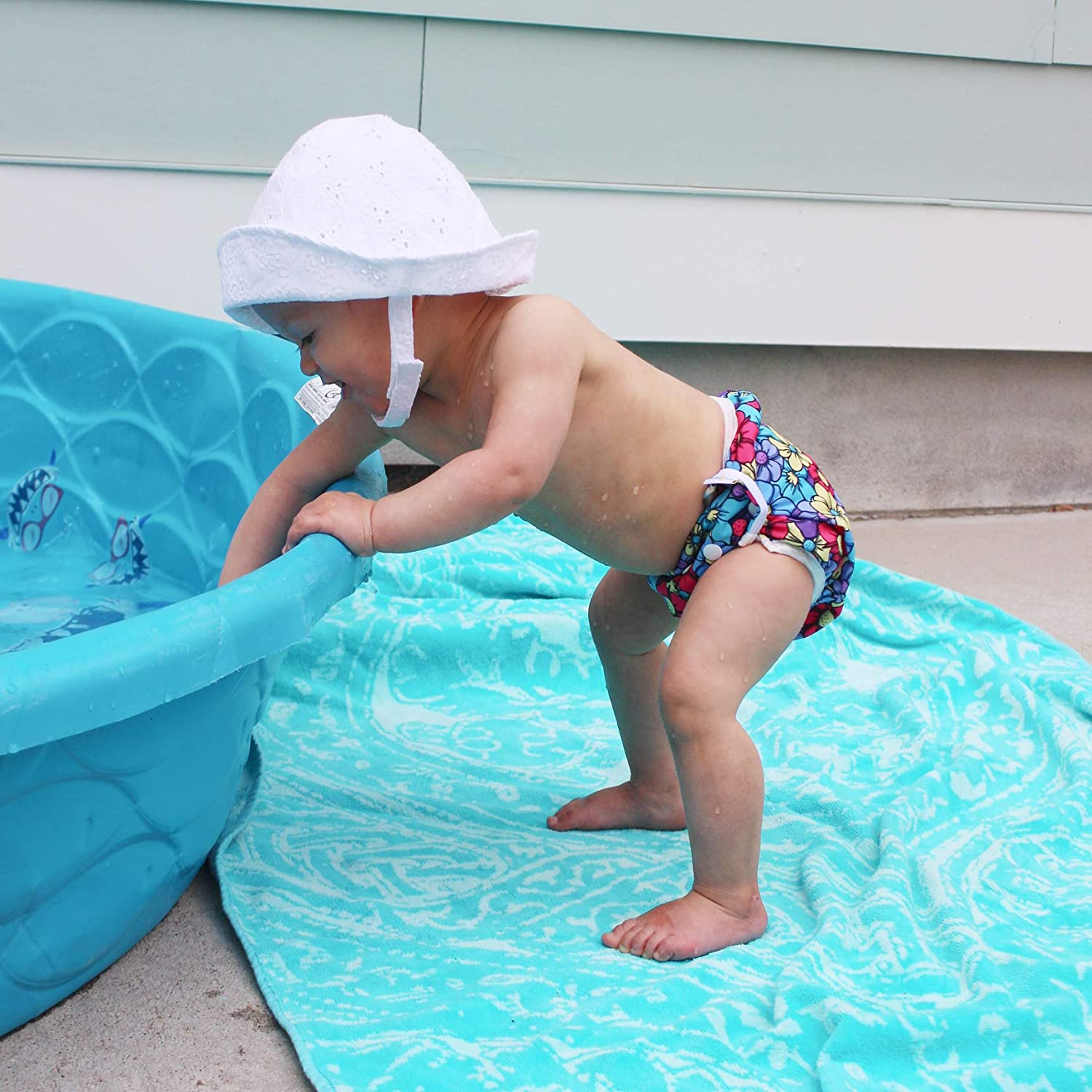 Leaf babygoal Baby Swim Diaper One Size Reusable Washable and Adjustable for Swimming fit 0-2 Years Babies FSW10