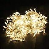 مصابيح شجرة الكريسماس الصفراء الفاتحة 10 أمتار لتزيين غرفة الحفلات أو خارج الباب أو تزيين بخيط LED للطيور 100 أضواء LED