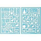 Martha Stewart Crafts Adhesive Stencils (5.75 by 7.75-Inch), 32304 46 Holiday Icons II Designs