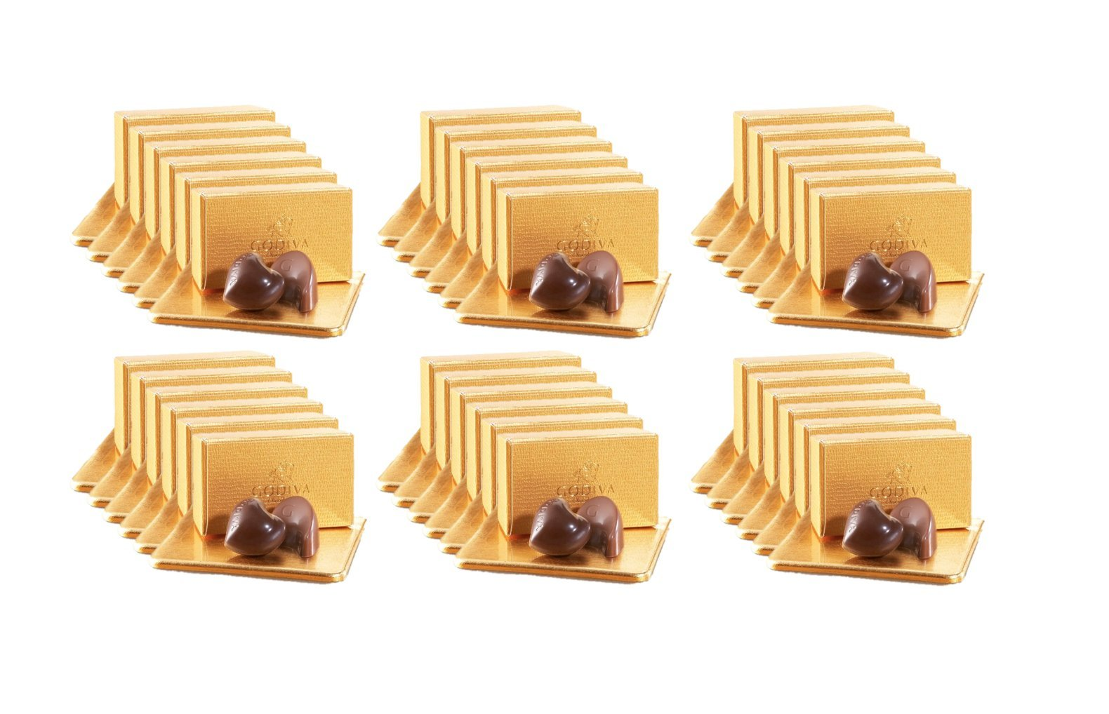 Godiva Chocolatier 36 Individually Packaged, 2-Piece Belgian Chocolate Gold Ballotins, Perfect for Bridal Showers - Parties - Wedding Favors by GODIVA Chocolatier (Image #1)