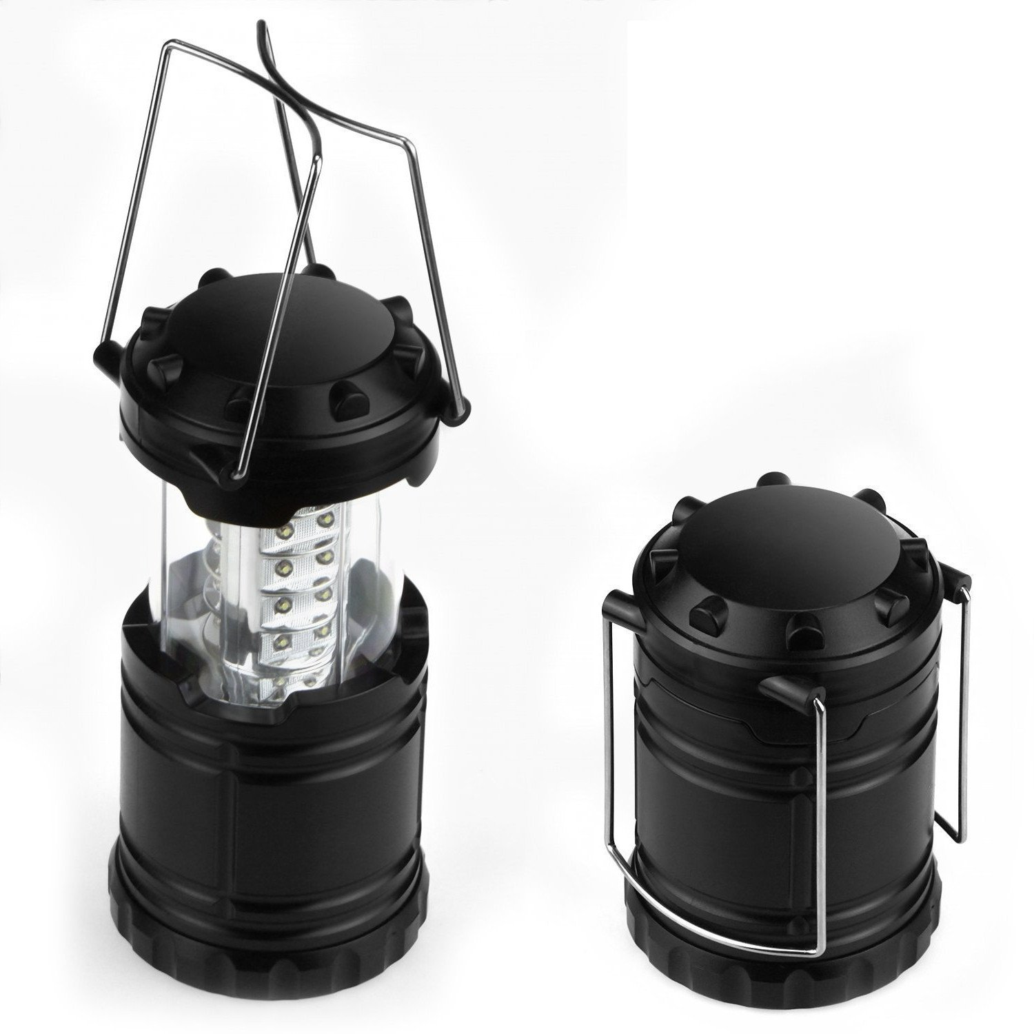 SHS 2Pieces of 30LEDs Collapsible Camping Lanterns Water-Resistant Home Garden Lantern Portable Outdoor Flashlights for Hiking Emergencies Battery Not Included