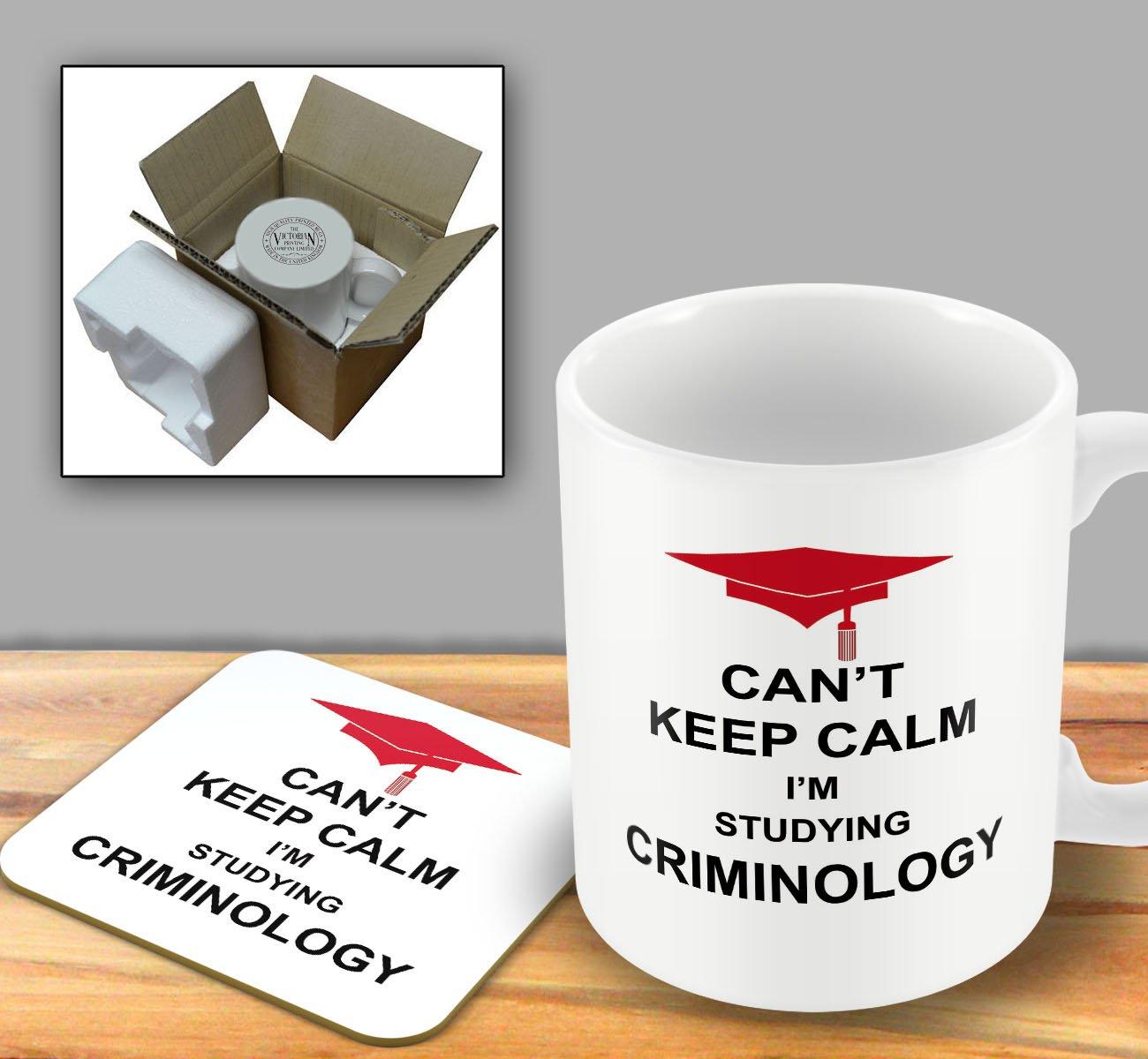 Can't Keep Calm I'm Studying Criminology - Mug and Coaster Set