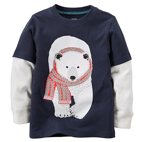 9 Months Carters Baby Boys Graphic Two Fer Polar Bear