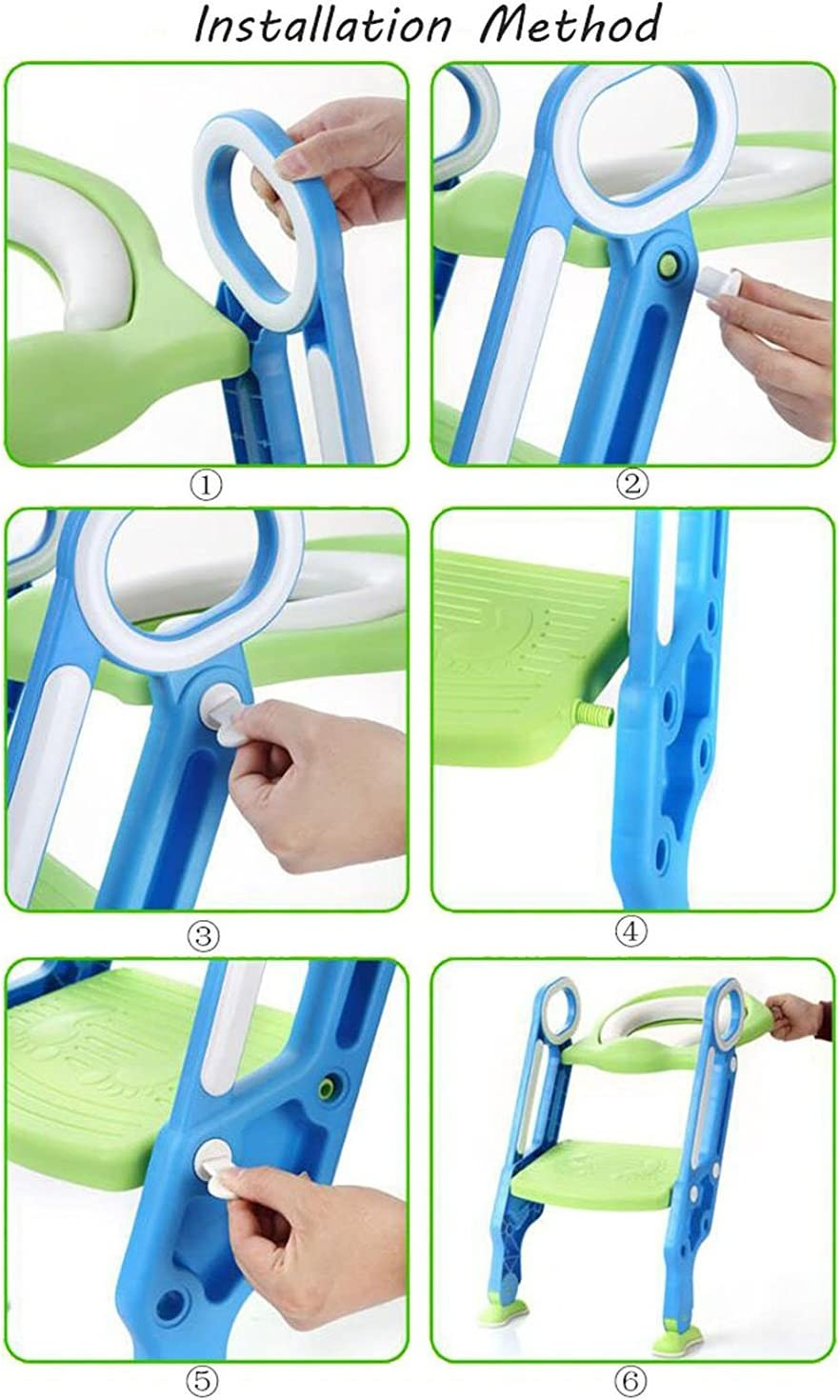 bleu-vert Si/ège de toilette /échelle avec marches WC si/ège pot Entra/îneur de b/éb/é enfant FR
