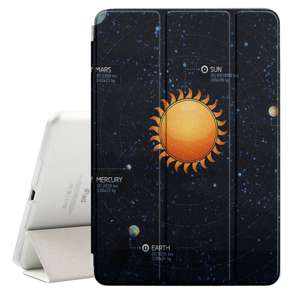Graphic4You Solar System Map Space Astrology Design Ultra Slim Case Smart Cover Stand [with Sleep / Wake Function] for Apple iPad Air 2