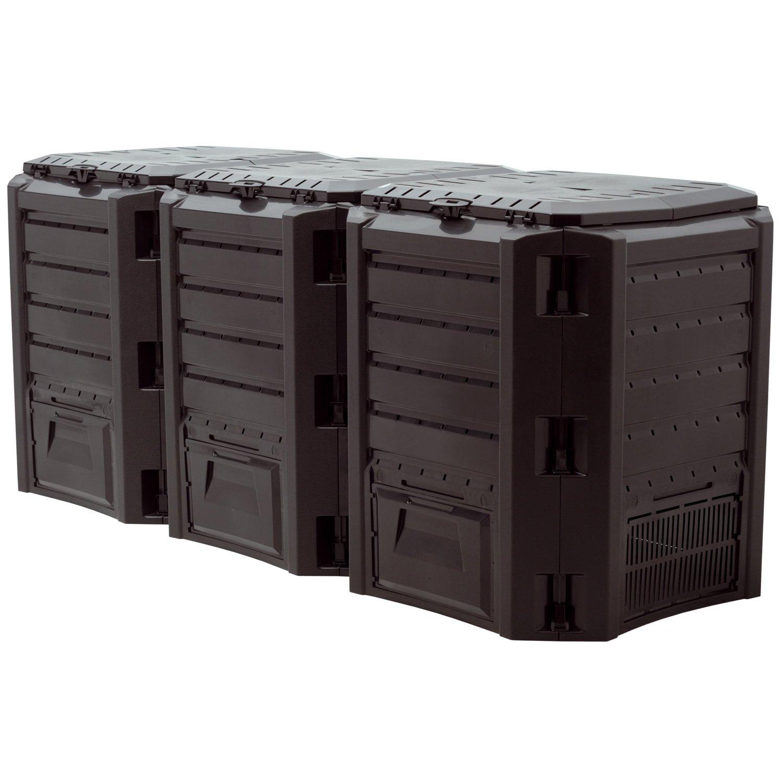 Prosper Plast IKLM1200 C-S411 - Modulo Compoverde Composter, Dimensioni 198 x 71.9 x 82.6 cm, colore Nero (3 Moduli, 67 Pezzi)