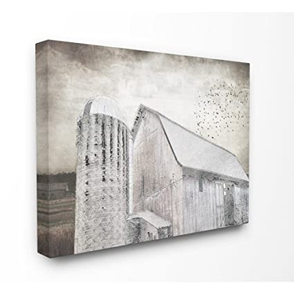 2838fb10dbbd Image Unavailable. Image not available for. Color  The Stupell Home Decor  Collection Farm Grainhouse Distressed Wall Art ...