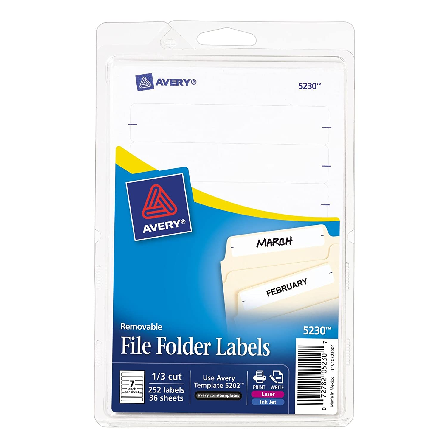 Amazon.com : Avery Removable File Folder Labels, Print or Write ...