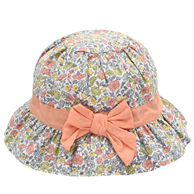 12be5adb79a Baby Girl Sun Hat Bowknot - Bucket Hats for Infant Toddler Summer Sun  Protection (0